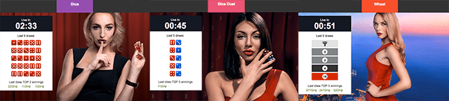 Betway casino games Dice, Dice duel and Wheel