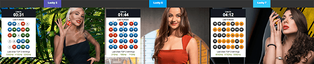 Betway casino games Lucky 5, Lucky 6 and Lucky 7