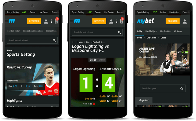Mybet mobile version